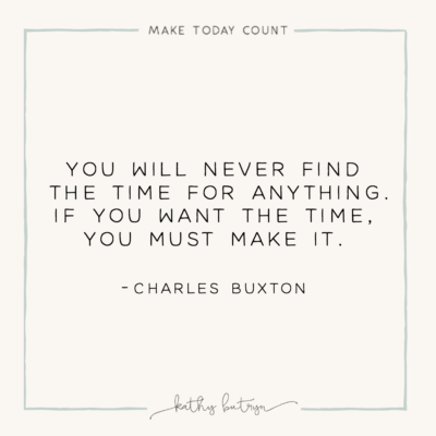 finding time or making time – a MAKE TODAY COUNT mentoring moment